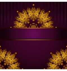 Golden medallion vintage frame vector image vector image