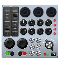 mixing or control console vector image