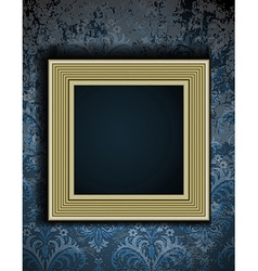 Picture frame on grunge wall vector image vector image