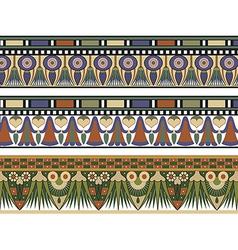 Set of three Egyptian border vector image