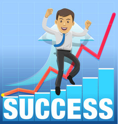 success celebrating vector image