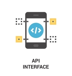 api interface icon vector image