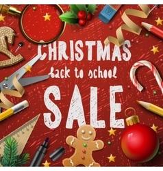 Christmas school sale vector image vector image