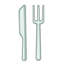 knife fork icon cartoon style vector image vector image
