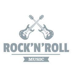 rock n roll logo simple gray style vector image