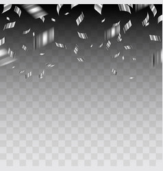 Abstract background with silver confetti vector