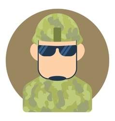 Avatar male soldier icon flat style vector image