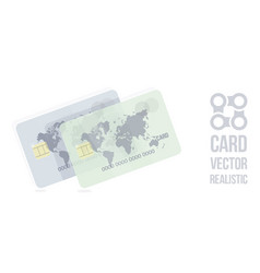 bank card card with world map vector image