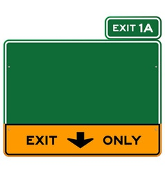 Exit Only Sign vector image vector image