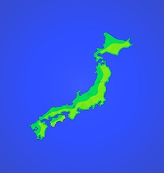 flat abstract japan islands icon vector image