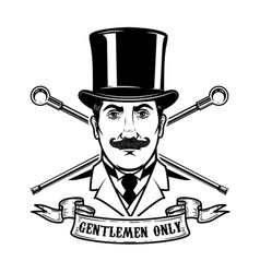 gentlemen club emblem template design element for vector image vector image