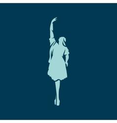 girl ballerina dance vector image