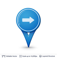 road sign pin vector image vector image