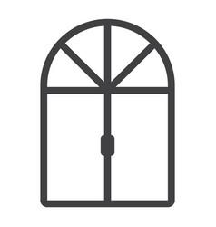 Window line icon furniture and interior vector