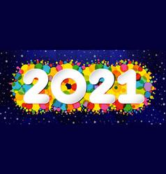 2021 colorful confetti dark night bg vector