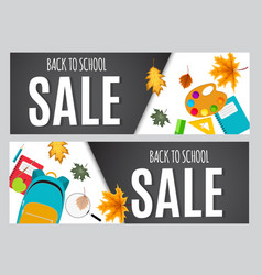 Abstract back to school sale background with vector