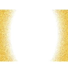 Abstract gold dust glitter background vector image vector image