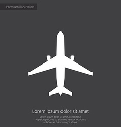 Airplane premium icon vector