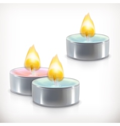 Aromatic candles icons vector image