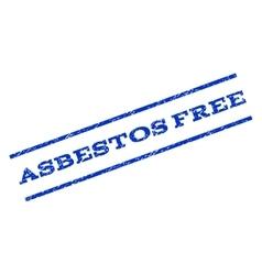 Asbestos Free Watermark Stamp vector image