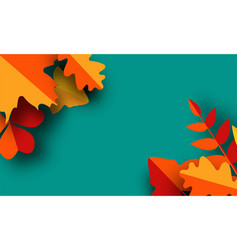 autumn greeting card template fall vector image