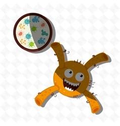 Bacteriology concept design vector