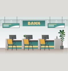bank office interior big work corporate room vector image