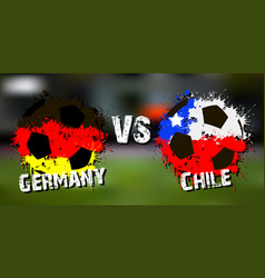 Banner football match germany vs chile vector