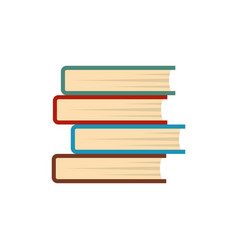 Book student icon flat style vector