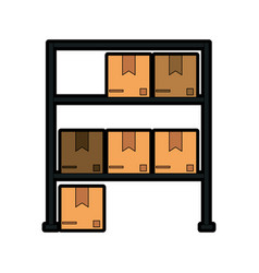 box in storage icon image vector image