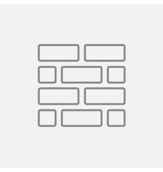 Brickwall line icon vector image