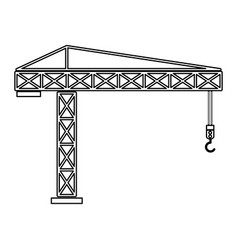 Building crane the black color icon vector