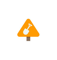 construction work sign icon flat element vector image