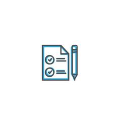 contact icon design marketing icon line vector image