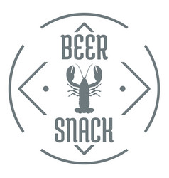 crayfish logo simple gray style vector image
