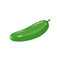 cucumber icon flat of cucumber vector image