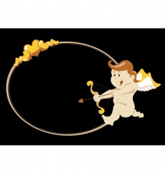 Cupid with arch and arrow vector