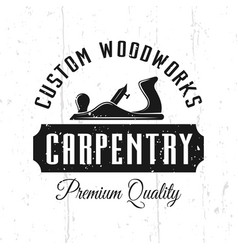 Custom woodworks carpentry service emblem vector