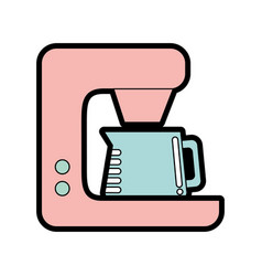 cute coffe maker graphic design vector image