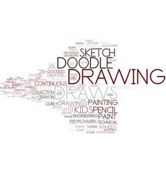 Draws word cloud concept vector
