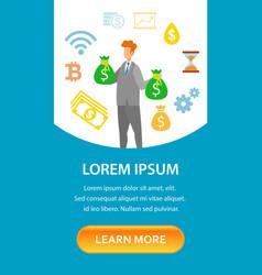 Entrepreneurship courses landing page template vector