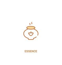 Essence concept 2 colored icon simple line vector
