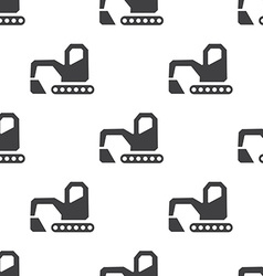 excavator seamless pattern vector image