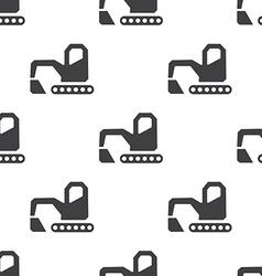 excavator seamless pattern vector image
