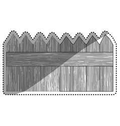 Fence wooden wood planks vector