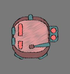 Flat icon design collection astronaut helmet in vector