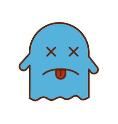 Ghost kawaii character icon vector