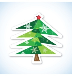 Green Christmas fir tree vector