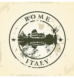 Grunge rubber stamp with Rome Italy vector image