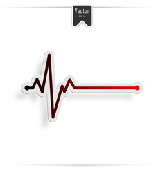 Heart beat line ekg death vector